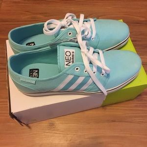 Adidas Teal Blue Neo Ortholite Sneakers sz 10 NEW